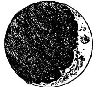 One of Galileo's sketches of the moon